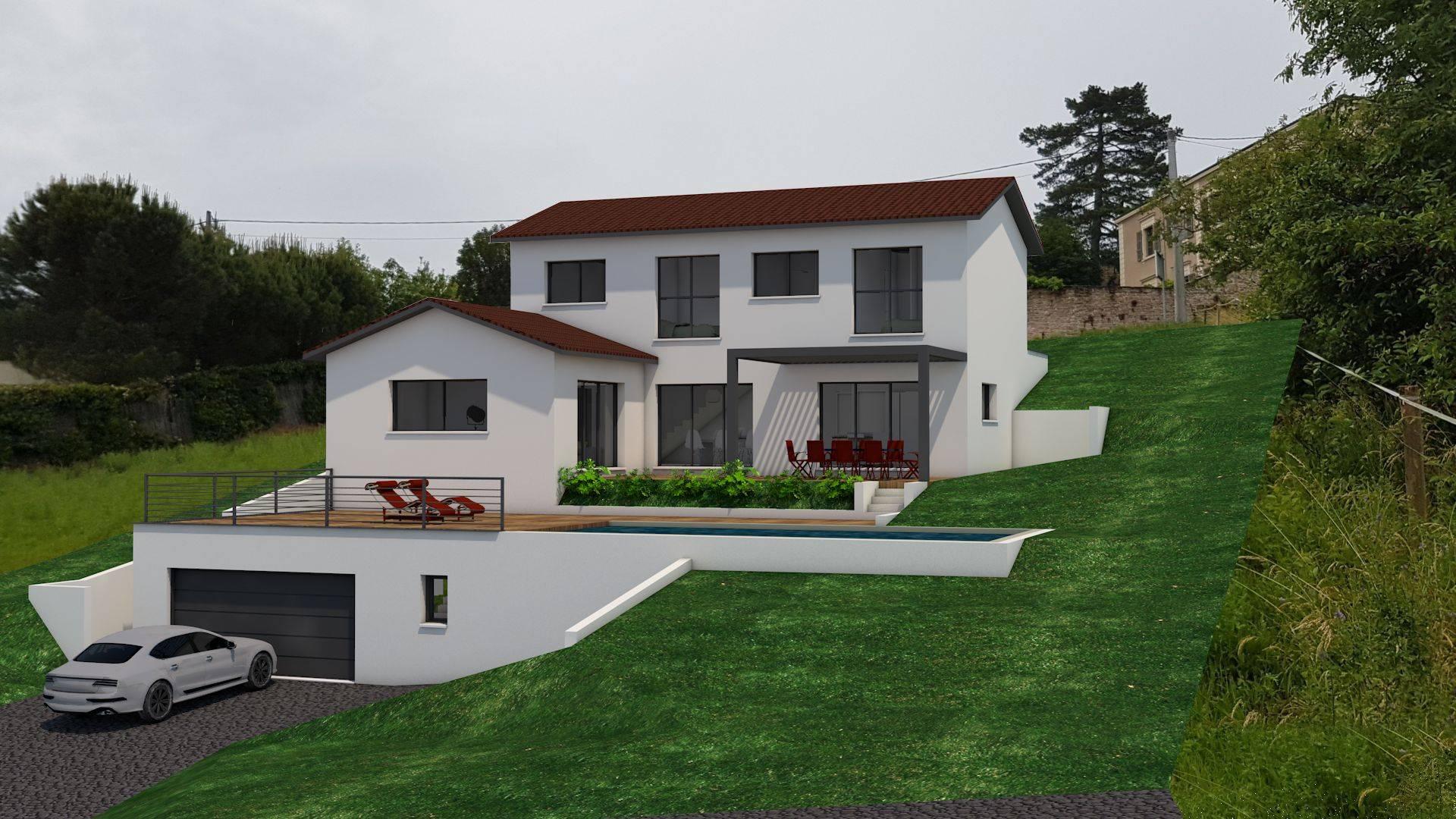Construction Maison En Pente construction de villa design avec finitions soignées lyon 69