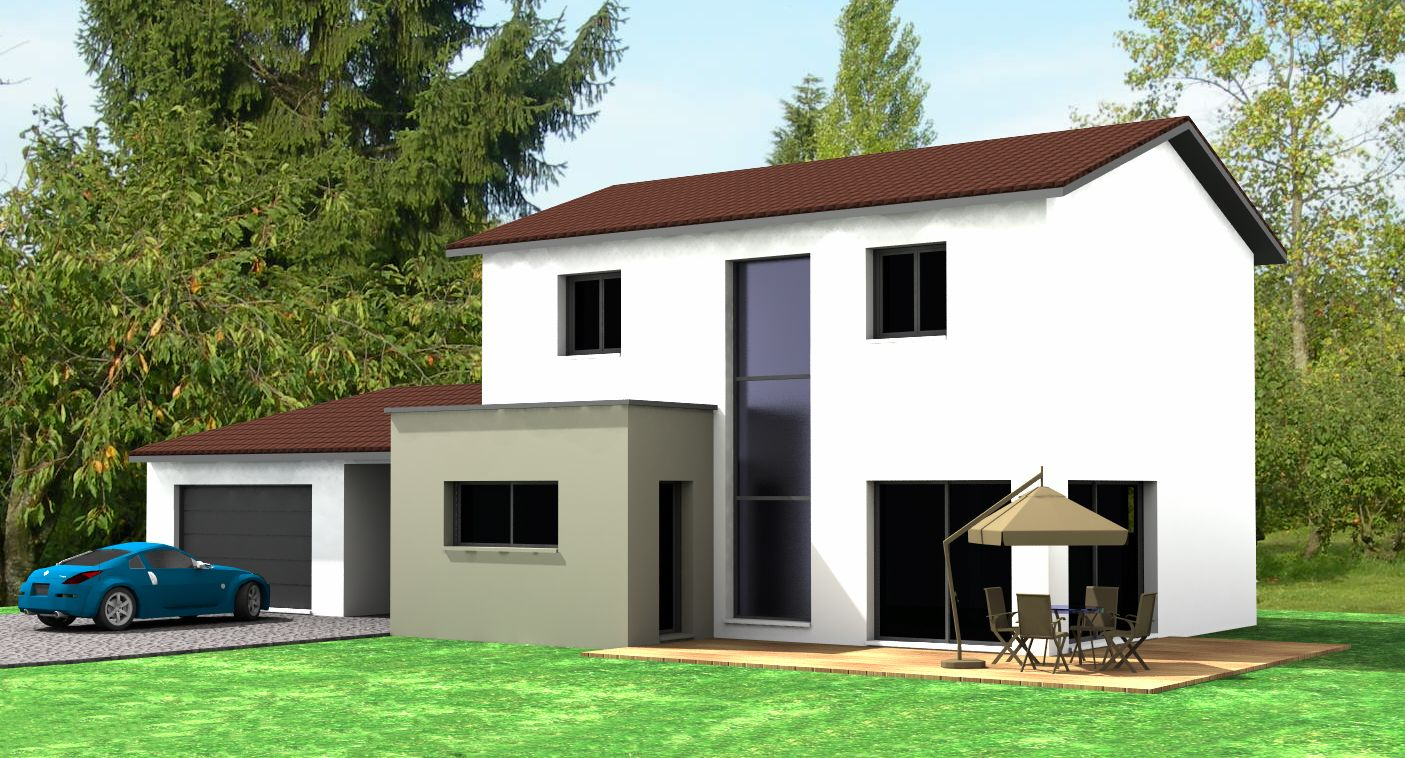 R alisation d 39 une maison semi contemporaine dans le rh ne for Site de construction de maison 3d