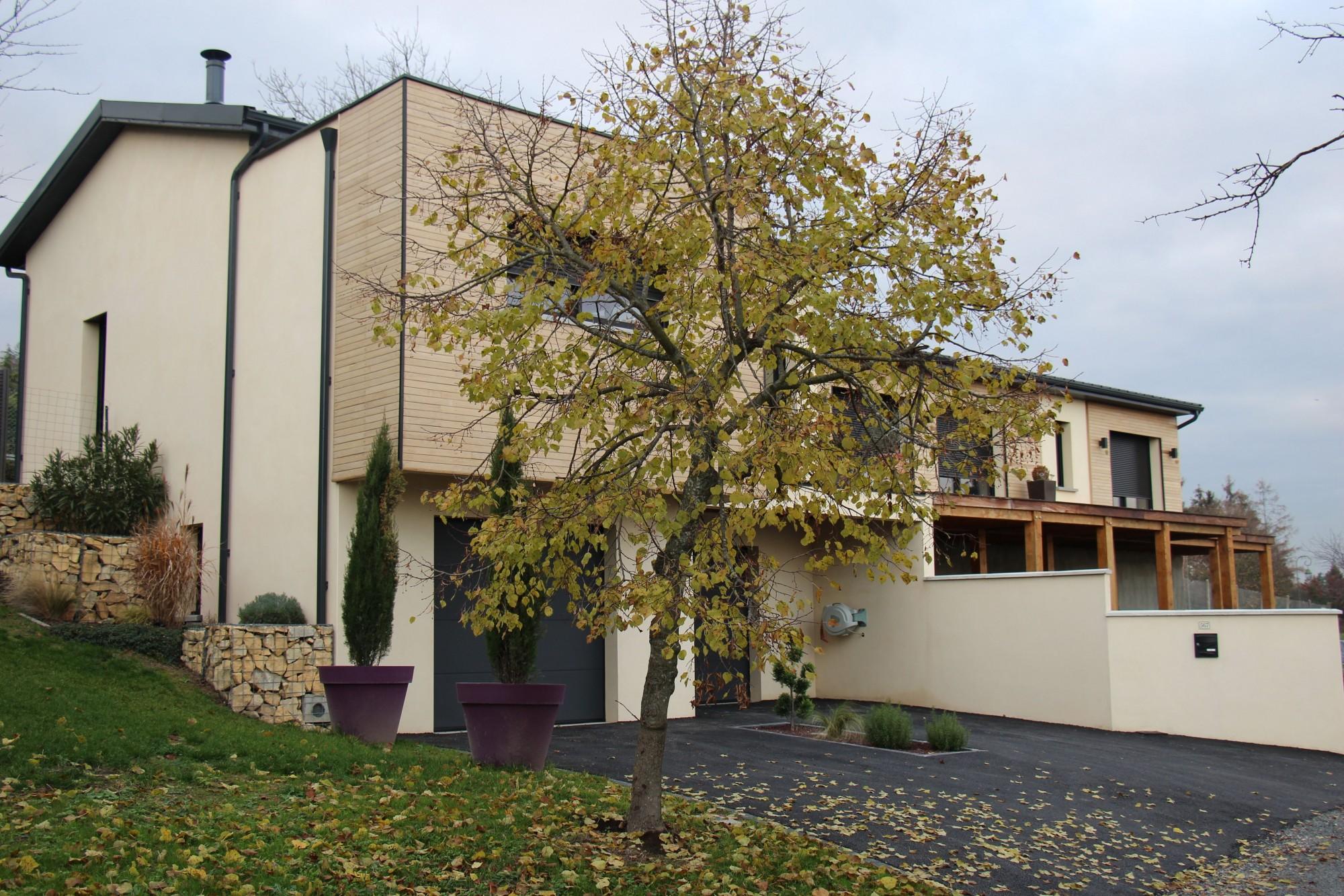 maison contemporaine bois et nature rhone