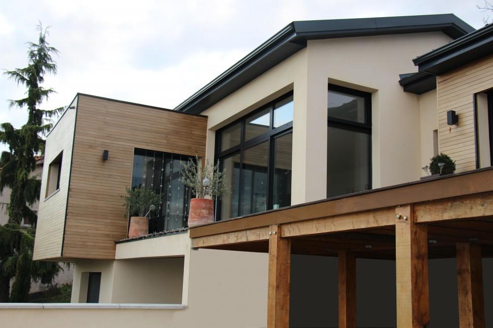 maison design bois rhone