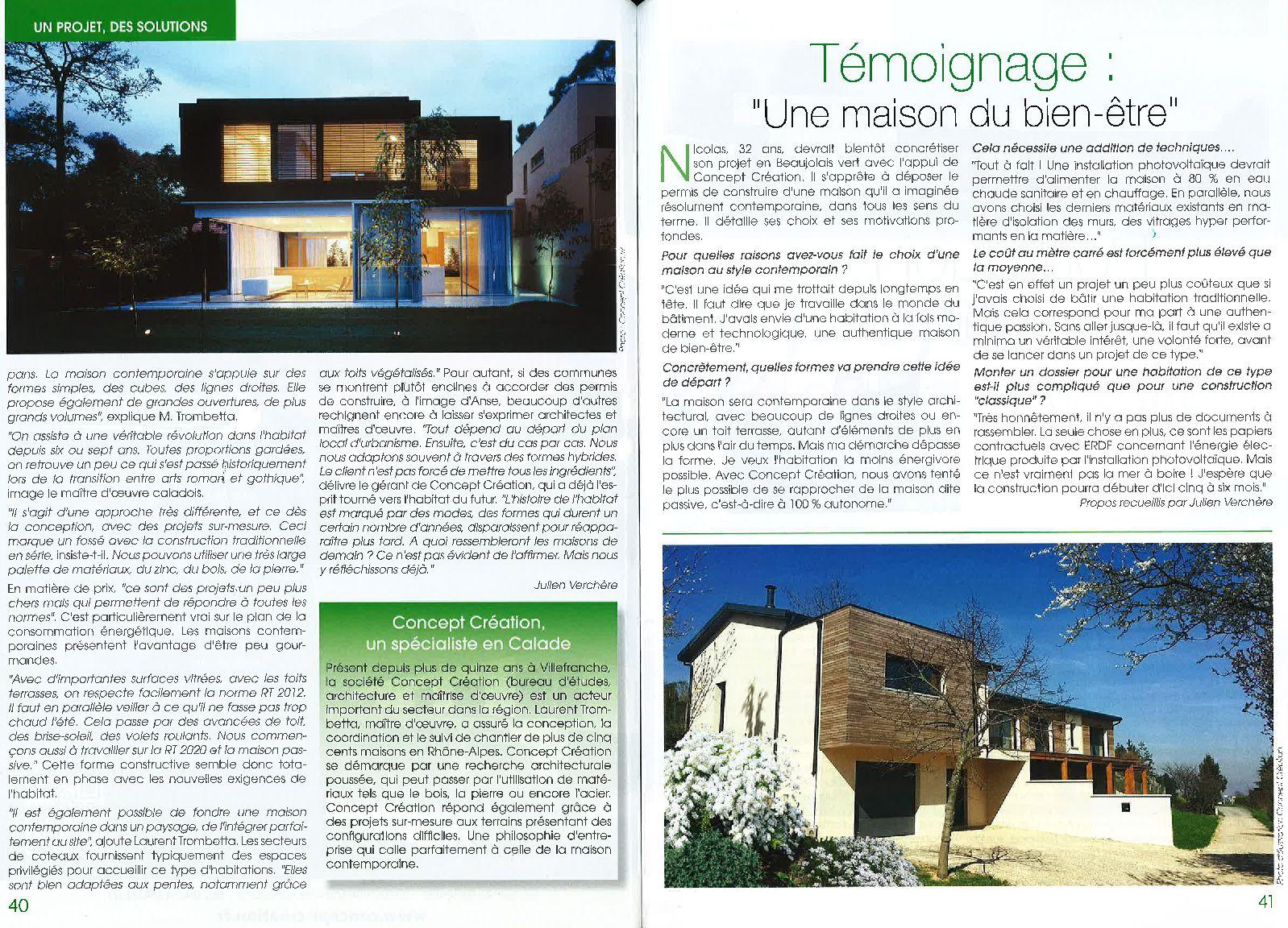 La presse parle de nous bureau d 39 tudes et architectes for Bureau vallee villefranche sur saone