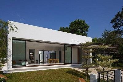 Maison forme module contemporain dans le rhone nos r alisations bureau d 39 - Forme de toiture maison ...