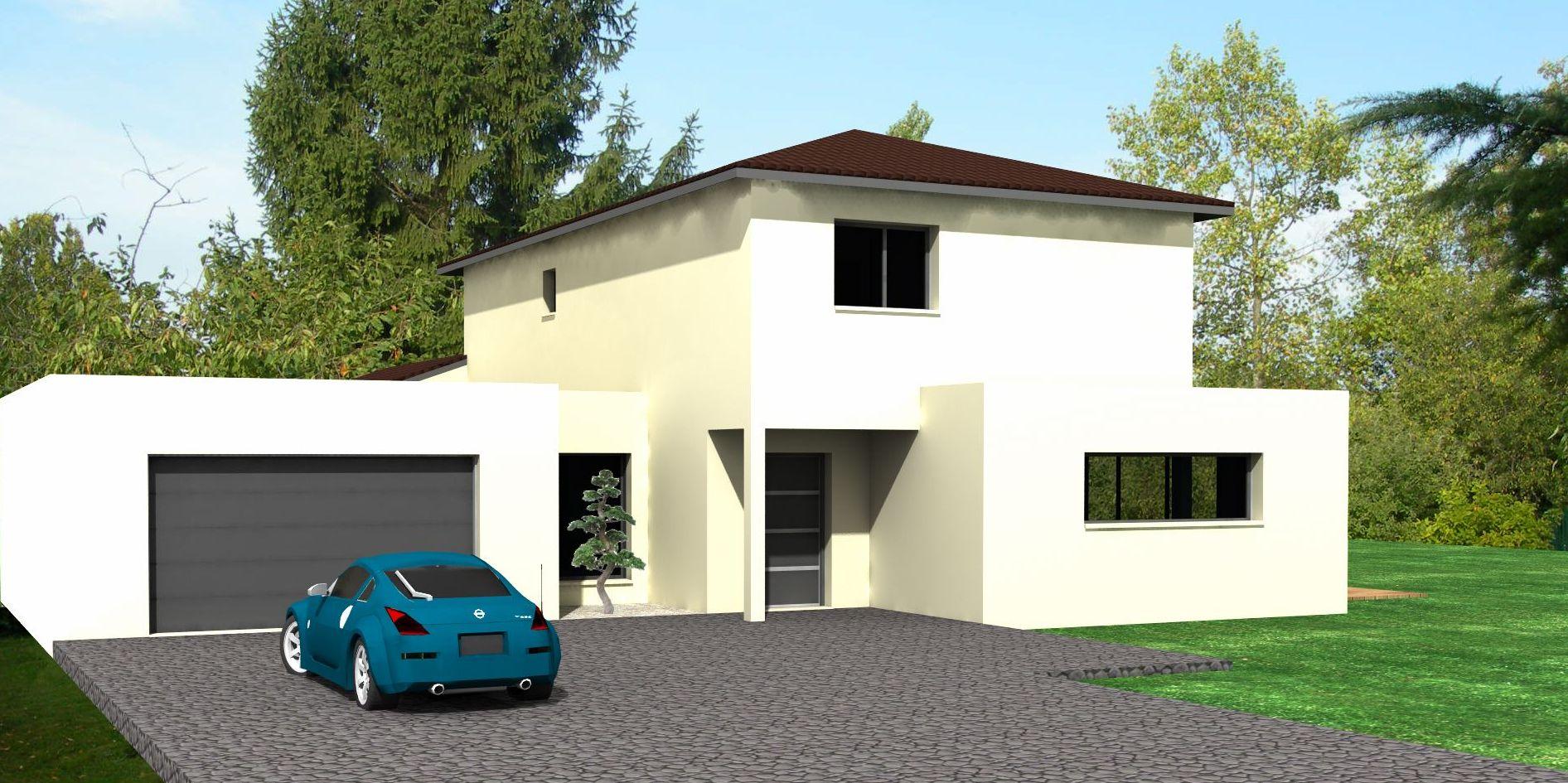 Maison contemporaine 165 m2 dans l 39 ain etudes de projets for Maison moderne et contemporaine