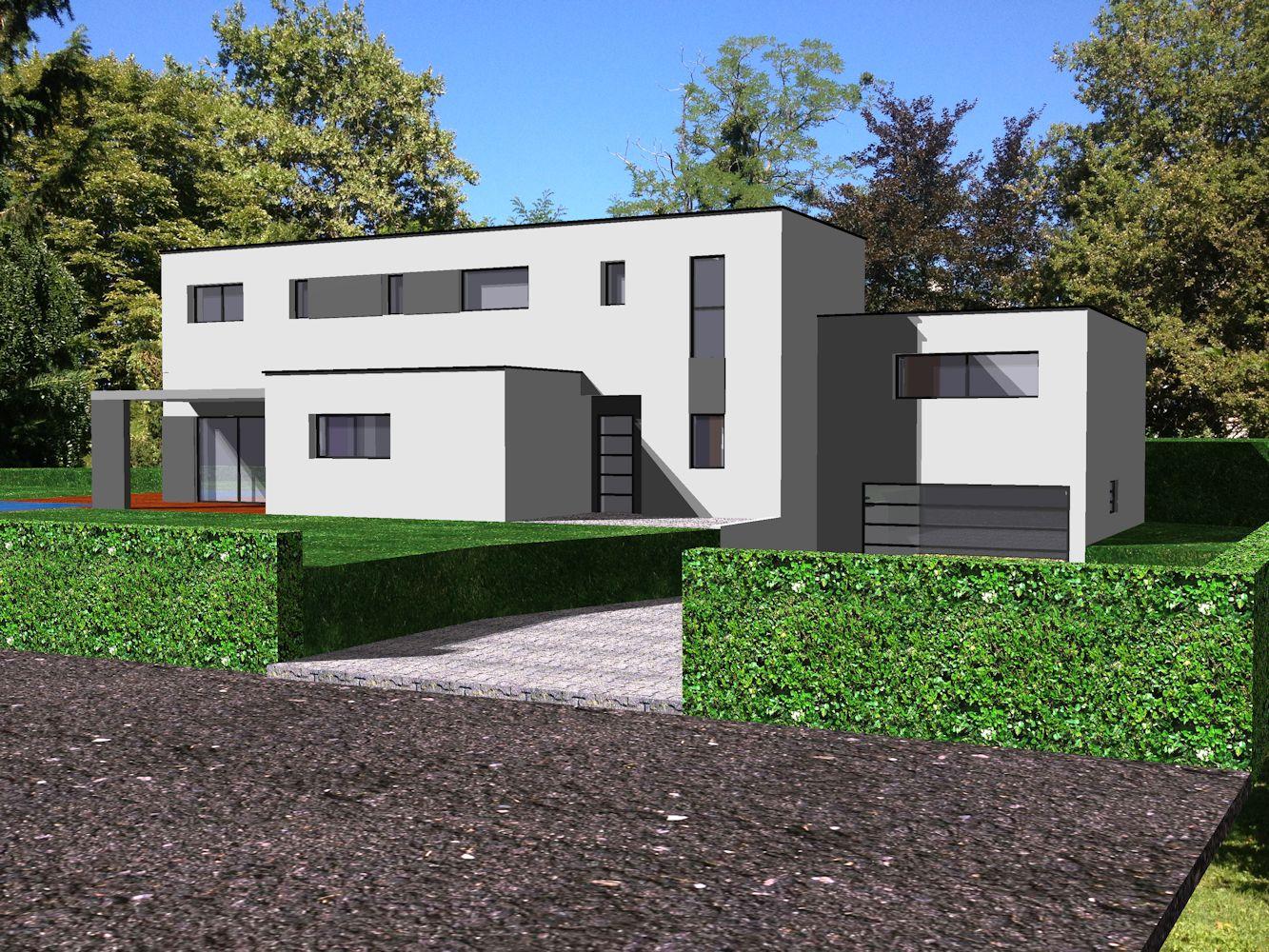 Projet au sud de lyon pour cette maison contemporaine for Projet maison contemporaine
