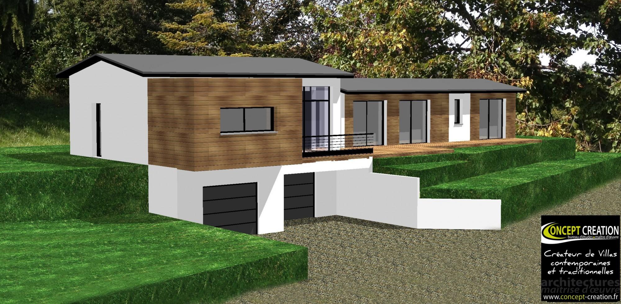 Maison contemporaine atypique en bois et acier bureau d for Intervenant exterieur