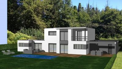 idées maison contemporaine avant construction au nord de lyon