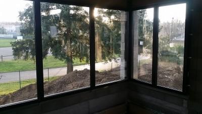 Larges baies vitrées