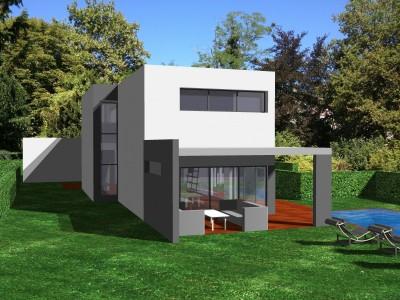 Projet d'une maison ultra contemporaine