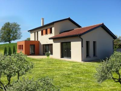 Maison mixte toit terrasse bureau d 39 tudes et architectes villefranche su - Estimation toiture maison ...
