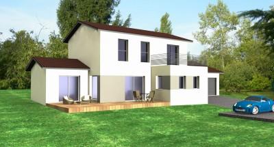 maison toits mixtes terrasse et 2 pans bureau d 39 tudes et architectes villefranche sur sa ne. Black Bedroom Furniture Sets. Home Design Ideas