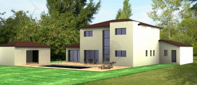 Maison Toit mixte contemporaine
