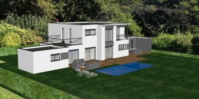 Maison contemporaine au nord de lyon avec toit terrasse - Bureau de change villefranche sur saone ...
