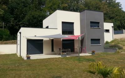 Toit Plat Bac Acier Prix maison toit-terrasse en trompe l'oeil bureau d'études et architectes