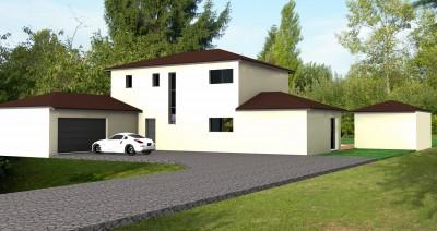 maison toit mixte architecture contemporaine bureau d 39 tudes et architectes villefranche sur. Black Bedroom Furniture Sets. Home Design Ideas